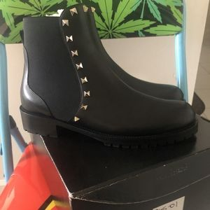 Valentino black ankle boots women's 9.5 brand new